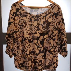 VELVET patterned ladies top
